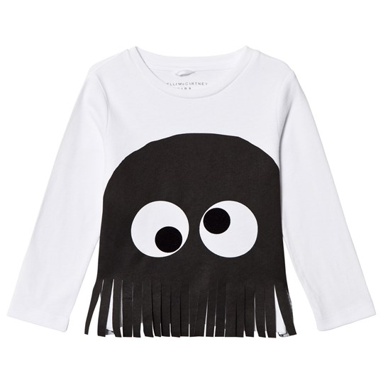 Stella McCartney Kids Spider Appliqué Långärmad Topp Vit/Svart 9082 - White