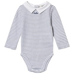 Cyrillus Blue Striped White Collar Baby Body