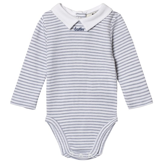 Cyrillus Blue Striped White Collar Baby Body 6388