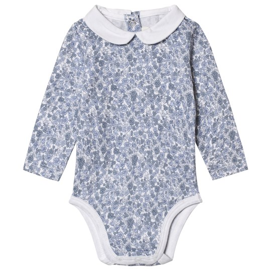 Cyrillus Blue Printed Flowers Body with White Collar 6386