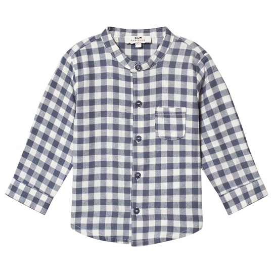 Cyrillus Navy and White Check Shirt 1243