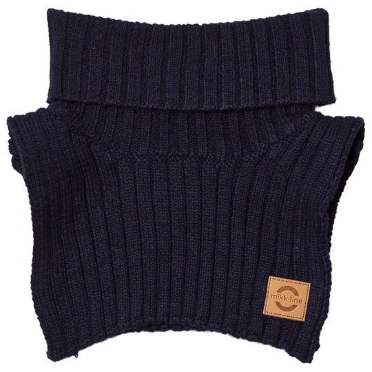 Mikk-Line Wool Blend Neck Warmer Blue Nights Blue Nights
