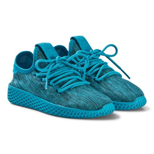 ae0074a47 adidas Originals Blue Pharrell Williams Tennis HU Sneakers bold aqua bold  aqua chalk white