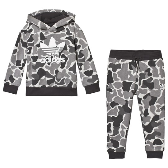 adidas Originals Grey Camo Trefoil Logo Hoodie and Sweatpants Set MULTICOLOR/CARBON S18