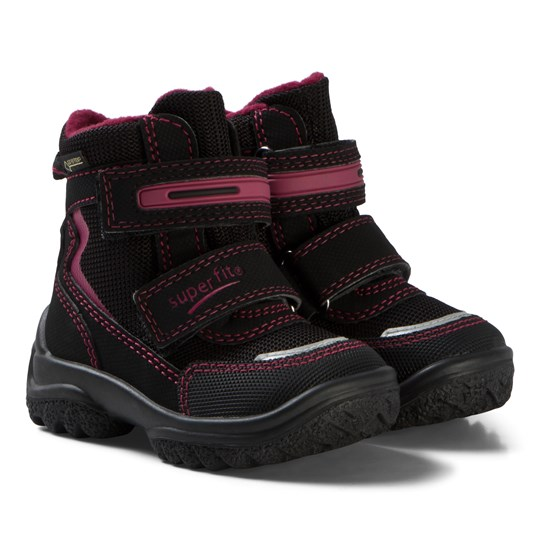 Superfit Black and Pink Snowcat Boots Black/red