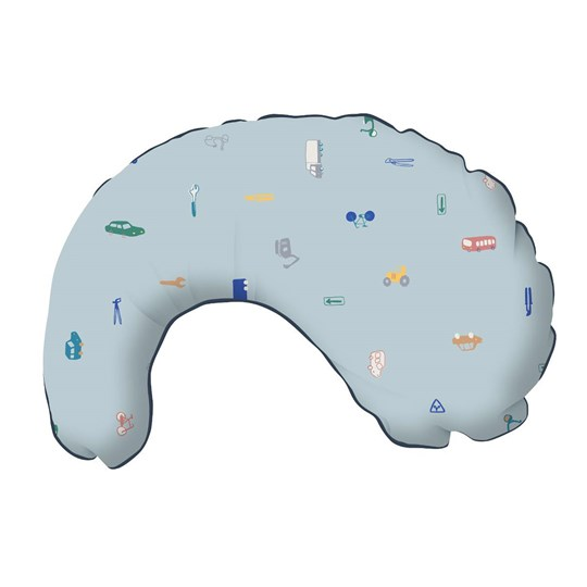 sebra Nursing Pillow Little Driver Sininen