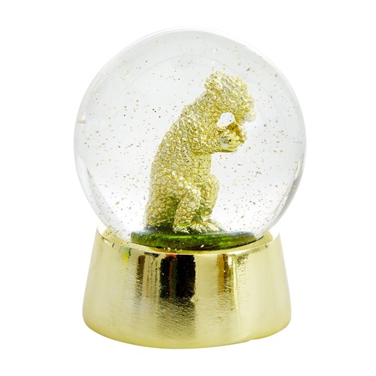 Rice Gold Dino Snow Globe