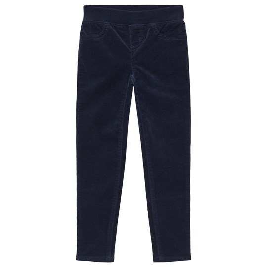 Lands' End Navy Pull On Cord Jeggings MDN