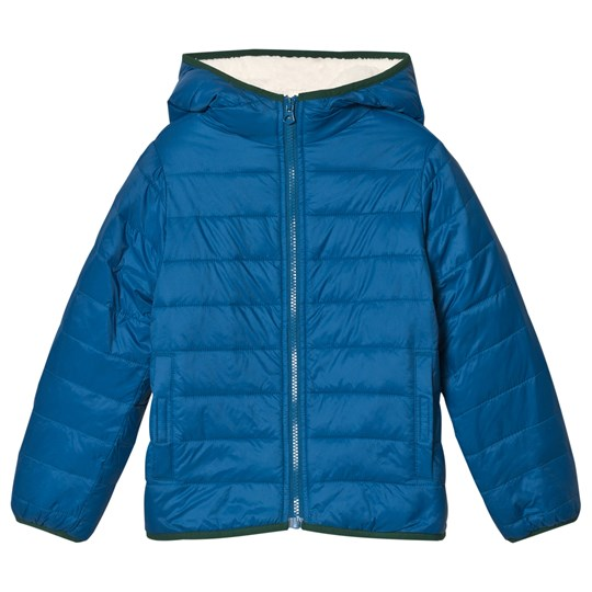 Lands' End Tranquil Teal Quilted Jacket 3Y2
