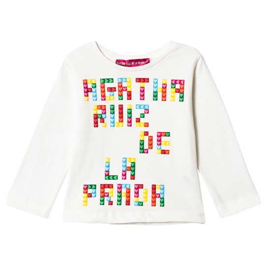 Agatha Ruiz de la Prada White Multicolored Branded Tee White
