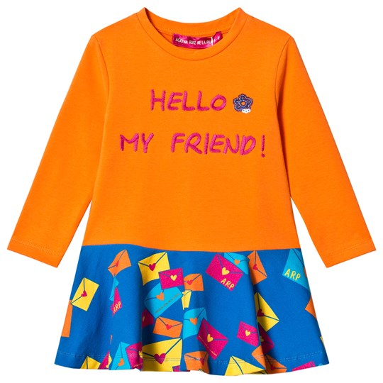 Agatha Ruiz de la Prada Orange & Blue Hello My Friend Dress Orange