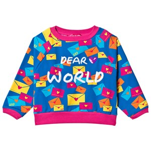 Image of Agatha Ruiz de la Prada Blue & Pink Dear World Sweater 10 years (3125242733)