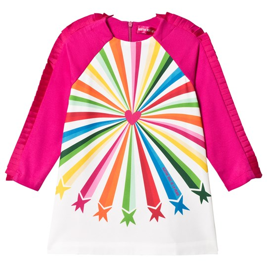 Agatha Ruiz de la Prada Hot Pink Shooting Star Jersey Dress Pink