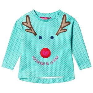 Image of Agatha Ruiz de la Prada Green Rudolph the Reindeer Tee 3 years (1139769)