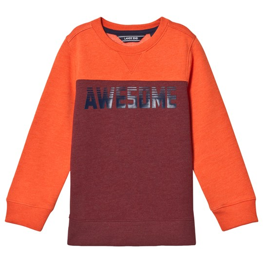 Lands' End Orange Awesome Sweatshirt 1DS
