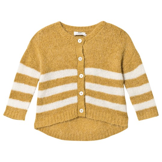 Cyrillus Olive Cardigan with White Stripes 6485