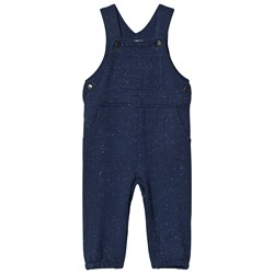 Hatley Navy Knit Jersey Overalls