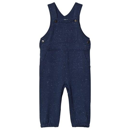 Hatley Navy Knit Jersey Overalls Blue
