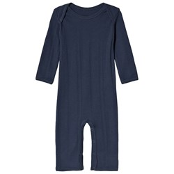 Noa Noa Miniature Jumpsuit Long Sleeve Dress Blue