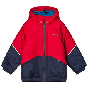 Image of Patagonia Red & Navy Baby Snow Pile Infants Jacket 2 years (1128448)