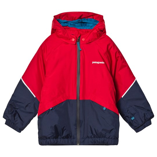 Patagonia Red & Navy Baby Snow Pile Infants Jacket FRE