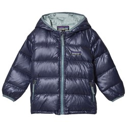 Patagonia Navy Baby Hi-Loft Down Hooded Jacket