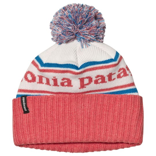 Patagonia Pink Branded Powder Town Beanie PSSC