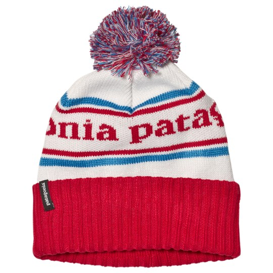 Patagonia Red Branded Powder Town Beanie PSRE