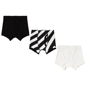 Image of NUNUNU Black and White Boxer Briefs 3-Pack 10-11 år (3125243709)