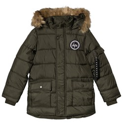 Hype Olive Puffer Parka