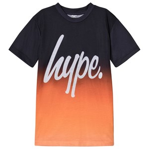 Image of Hype Black and Orange Fade T-Shirt 3-4 years (3125265159)