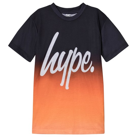 Hype Black and Orange Fade T-Shirt Black/Orange