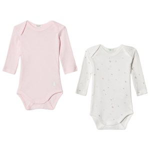 Image of United Colors of Benetton 2-Pack White and Pink Baby Bodies 1Y (82cm) (3125279255)