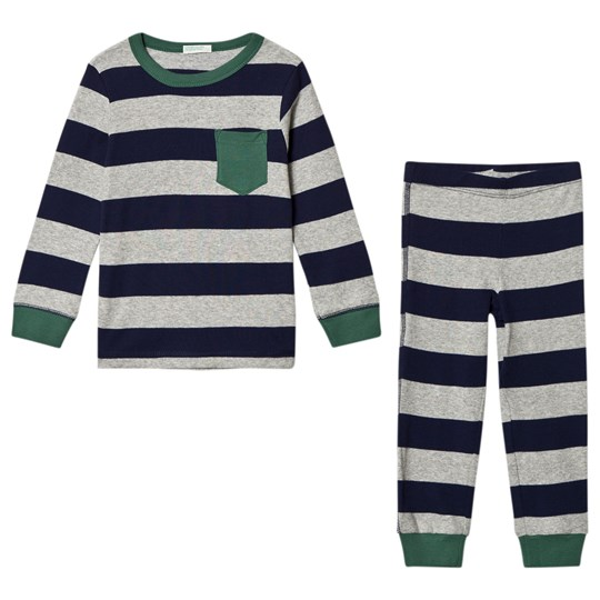 United Colors of Benetton Grey and Navy Pajamas Black