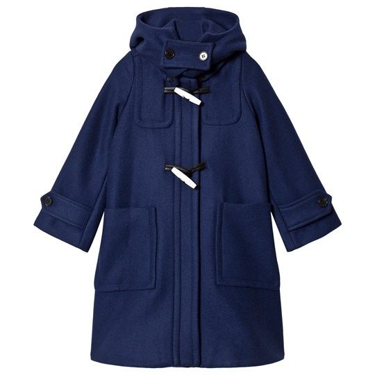 Marni Blue Hooded Duffle Coat Blue