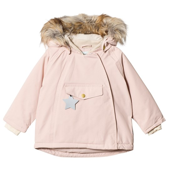 Mini A Ture Wang Faux Fur Jacket Rose Smoke Rose Smoke