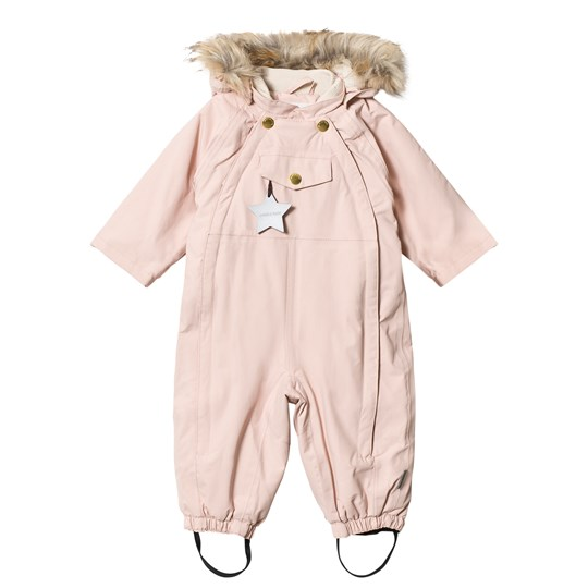 Mini A Ture Wisti Faux Fur Snowsuit Rose Smoke Rose Smoke