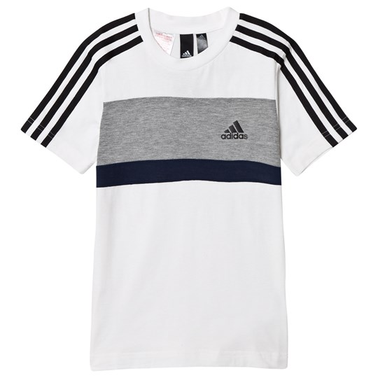 adidas Performance White Branded Tee white/mgh solid grey/collegiate navy