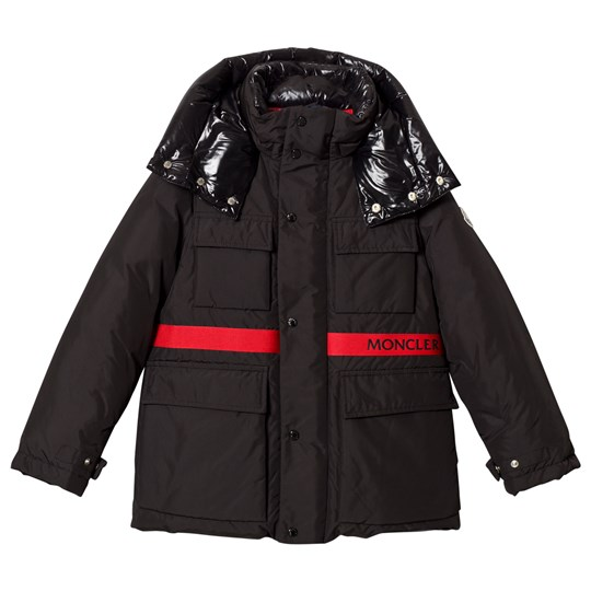 Moncler Black Perpignan Hooded Coat 999