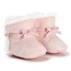 Mayoral Baby Pink Knit Booties