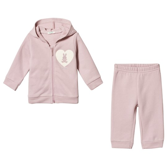 United Colors of Benetton Pink Sweatpants Set Light Pink