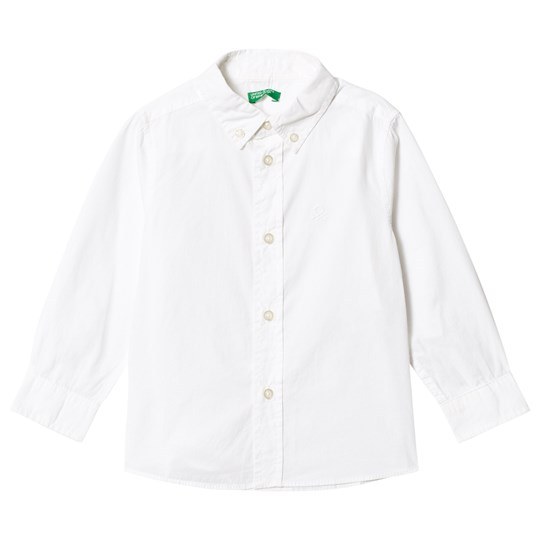 United Colors of Benetton White Collar Shirt White