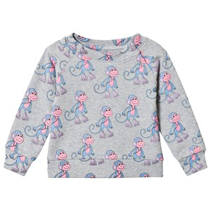 Image of Hugo Loves Tiki Monkey Sweatshirt Grey 18-24 mdr (3125247193)