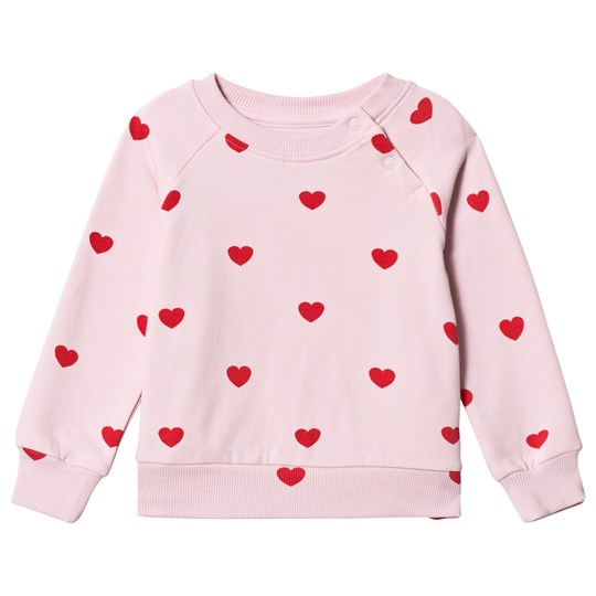 Hugo Loves Tiki Red Hearts Sweatshirt Pink red hearts