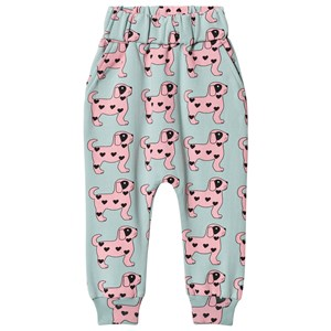 Image of Hugo Loves Tiki Pink Dog Drop Crotch Sweatpants Blue 8 år (3125247217)