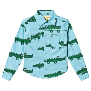 Image of Hugo Loves Tiki Crocodile Shirt Blue 1 år (3125272045)