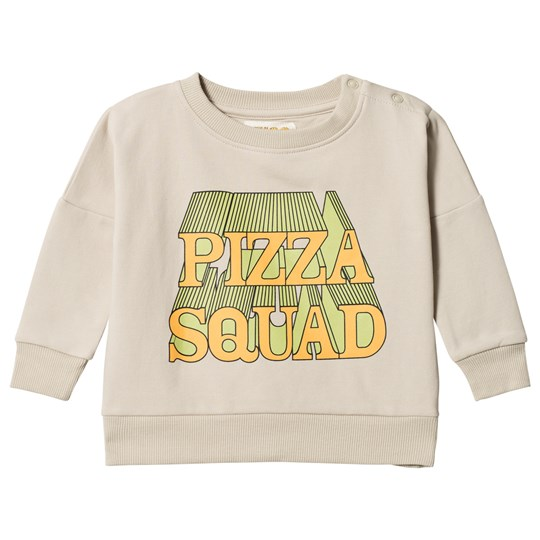 Hugo Loves Tiki Pizza Squad Wide Sweatshirt Pale Green Pizza Squad
