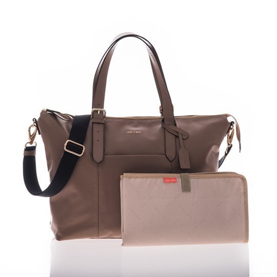 Jem + Bea Beatrice Changing Bag Taupe Taupe