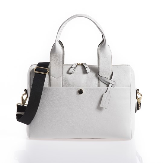 Jem + Bea Amber Changing Bag Grey Grey/ White