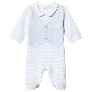 Image of Mintini Baby Blue and White Footed Baby Body 1 mdr (3125235549)